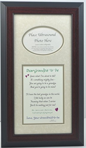 grandpa to be ultrasound picture frame 7x14 sonogram gift grandfather grandparent choose your mat