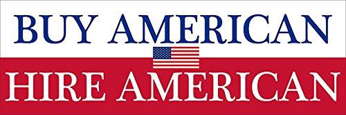 GHaynes Distributing BUY American HIRE American Sticker Decal(patriotic patriot us usa jobs) Size: 3 x 9 -
