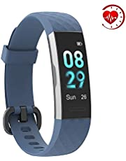 YoYoFit Sage Fitness Tracker, HR Waterproof Activity Tracker Fitness Watch with Heart Rate Monitor Wearable Sleep Tracker Calorie Counter Pedometer Smart Watch for Women Men and Kids