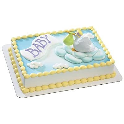 Special Delivery Stork DecoSet Cake Decoration: Toys & Games