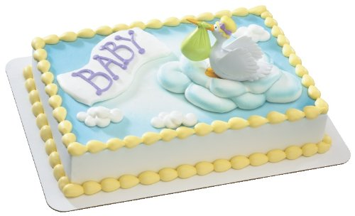 Special Delivery Stork DecoSet Cake (Baby Shower Cake Decoration)