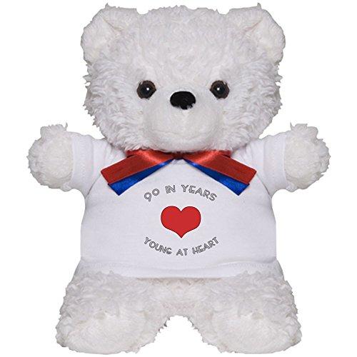 CafePress - 90 Young at Heart Birthday - Teddy Bear, Plush Stuffed Animal