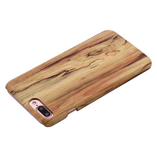 JIALUN-carcasa de telefono Cubierta de IPhone 7 Plus, caja de plástico de la contraportada del patrón de grano de madera para Apple IPhone 7 Plus ( Color : 5 , Size : IPhone 7 Plus ) 1