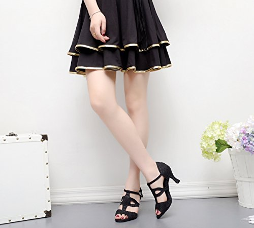 Sala Heel Donna Nero 5cm Da 7 35 black Minitoo wqx415f0f