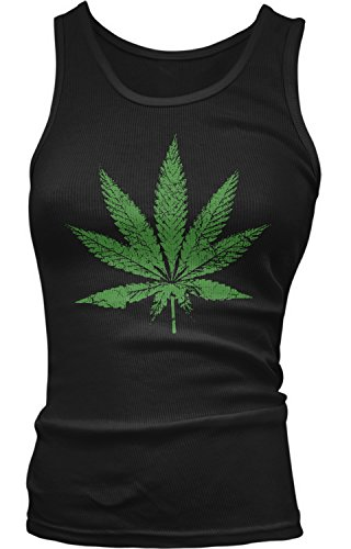 Amdesco-Juniors-Weed-Leaf-Faded-and-Distressed-Pot-Leaf-Tank-Top