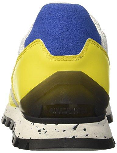 Bikkembergs Fend-ER, Sneaker Uomo Giallo (White/Yellow)