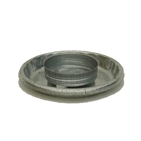 Brower Model 0 Galvanized Threaded Chick Fount Base - Fount Base