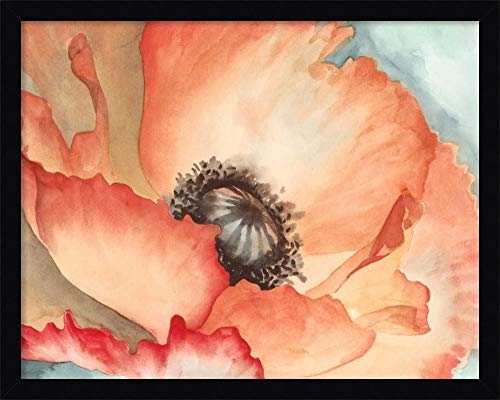 - Framed Canvas Wall Art Print | Home Wall Decor Canvas Art | Watercolor Poppy II by Megan Meagher | Modern Decor | Stretched Canvas Prints