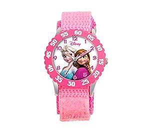 Disney Anna, Snow Queen Elsa Girls' Stainless Steel Pink Watch