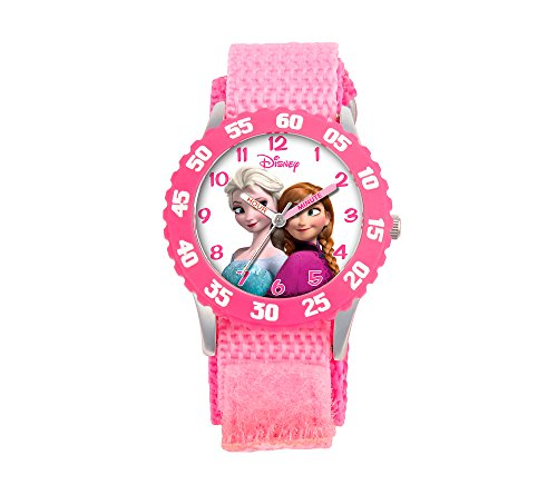 Disney Girls' Anna And Snow Queen Elsa Stainless Steel Pink Watch