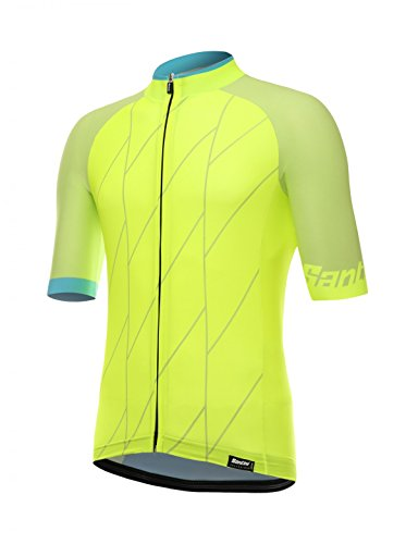 ort Sleeve Jersey, Flouro Yellow, Medium (Santini Lightweight Jersey)