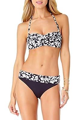 Anne Cole Women's Solid Twist Bandeau Bikini Swim Top
