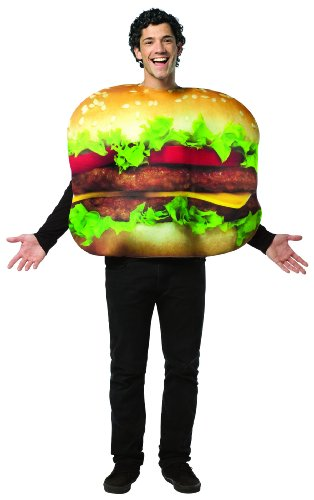 Rasta Imposta Cheeseburger Costume, Multi-Colored, One (Food Costumes For Adults)
