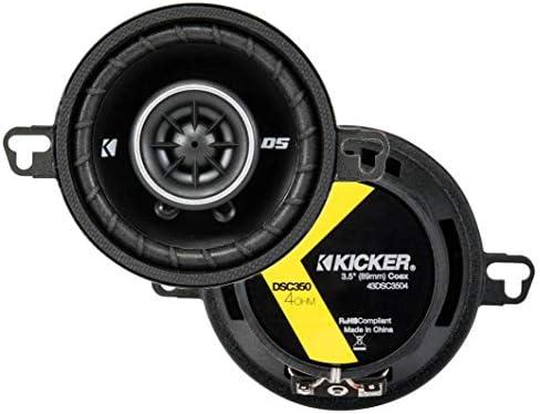 KICKER 43DSC3504 3-1/2-INCH 3.5-INCH 30W 2-WAY SPEAKERS DSC35 DS35 COAX (PAIR)