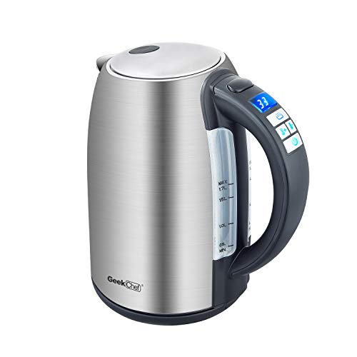 Electric Kettle Temperature Control SS304 Stainless Steel 1.7Liter Tea Kettle, BPA-Free Hot Water Boiler Cordless with LED Indicator, Auto Shut-Off, Boil-Dry Protection, Keep Warm, 1500W Fast Boiling