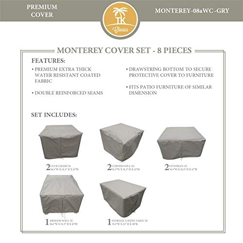 TK Classics MONTEREY-08a Protective Cover Set in Gray