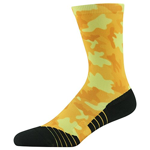 Survival Socks (Hiking / Hunting Socks, HUSO Funky Digital Camo Compression Wick Dry Skin Friendly Crew Socks for Outdoor Survival Camping)