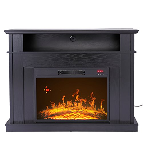 """JAXPETY 41"""" Large 1500W Room Adjustable Electric Fireplace TV Stand w/Remote Control"""