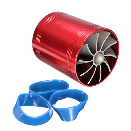 BFHCVDF Car Supercharger Air Intake Turbonator Dual Fan Turbine Gas Fuel Saver Turbo Red: Amazon.co.uk: Kitchen & Home