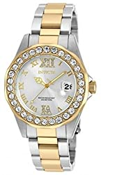 Invicta Women's 'Pro Diver' Quartz Stainless Steel Casual Watch, Color:Two Tone (Model: 20215)