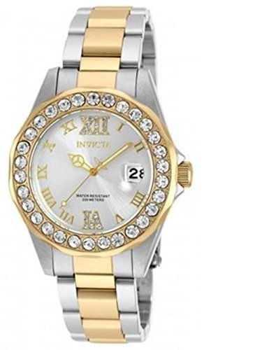 Invicta Women's 'Pro Diver' Quartz Stainless Steel Casual Watch, Color:Two Tone (Model: 20215) ()