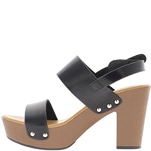 Schwarze Sandalen mit großen heels 9,5 cm