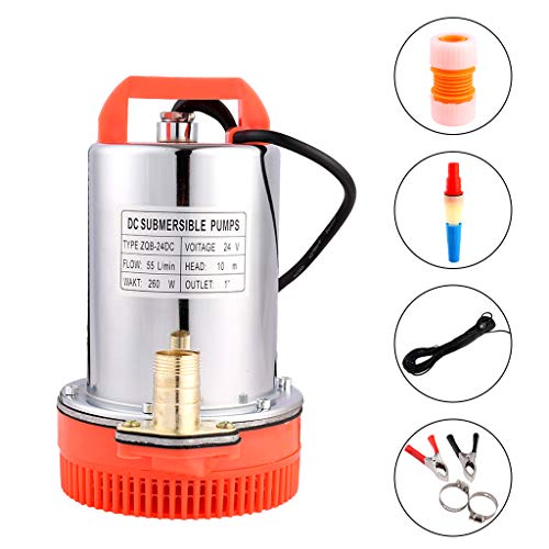 (SHYLIYU Submersible Pumps DC 24V Farm & Ranch Solar Submersible Water Pump 260W 1 inch Outlet Solar Powered Deep Well Water Pump)