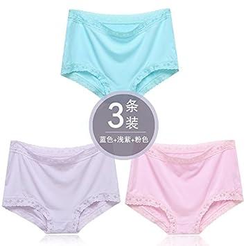 YMFIE Ropa interior de algodón puro señoras lace stealth suave y cómoda ropa interior 3,