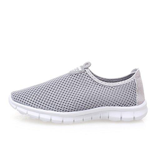 Zapatos de las mujeres coreanas/Red de extremo de hilo de malla transpirable ligero hueco zapatos/Low-top zapatillas/ pie calzado de fondo plano par red E