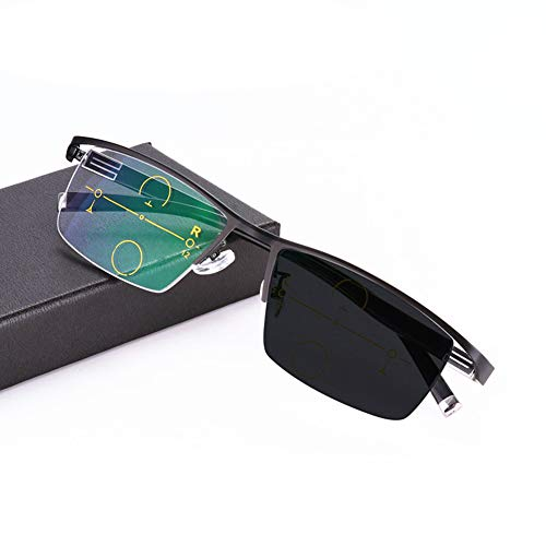 Eyetary Reading Glasses Progressive Multifocal Photochromic Sunglasses, Aspheric No line Bifocal Lens Outdoor Readers for UV400 /Anti Glare/in Reading Magnification 1.00 to 3.00 ()