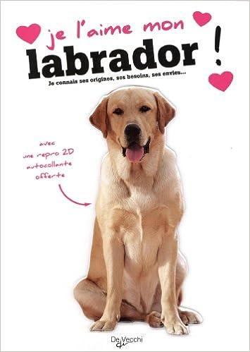 Lire en ligne Je l'aime mon labrador : Avec une repro 2D autocollante pdf, epub ebook