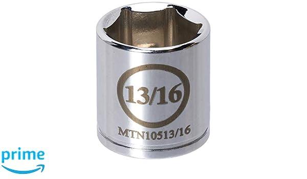 Mountain MTN10513//16 3//8 Drive 13//16 6 Point Socket