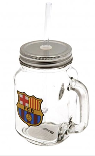 - Authentic FC Barcelona Mason Jar Drinking Glass - Official FC Barcelona Product - Great Gift for Club Fans - Men and Women Love This Mug