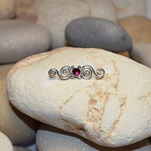 - Ruby EAR CLIMBER Earrings // Sterling Silver Ear Pins - Up The Ear Earrings - Ear Sweep - Ear Wrap - Ear Crawler - Ear Cuff