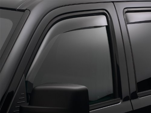 WeatherTech Custom Fit Front Side Window Deflectors for Nissan Sentra, Light Smoke