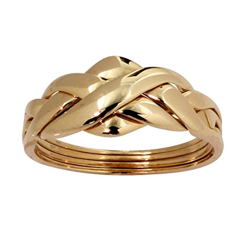 Solid 10K Yellow Gold Braided Puzzle Ring