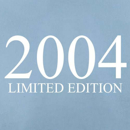 2004 Limierte Auflage / Limited Edition - 13. Geburtstag - Damen T-Shirt - Himmelblau - L