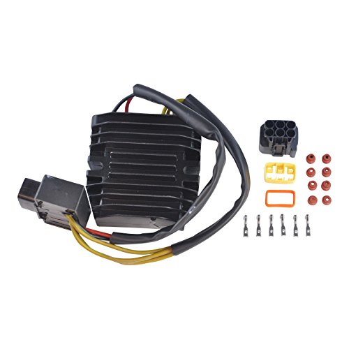 Improved Mosfet Voltage Regulator Rectifier For Arctic Cat Honda Kawasaki Suzuki Yamaha ATV UTV PWC Motorcycle OEM Repl.# 0824-037 21066-0705 21066-1127 31600-HN2-013 32800-38F10 32800-42F00