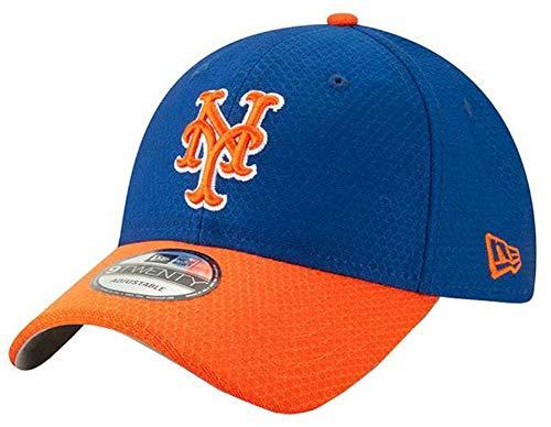 - New Era 2019 MLB New York Mets Baseball Cap Hat Bat Practice BP 9Twenty Adjust Royal/Orange