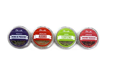 Olivelle World Traveler Spice Collection Travel Spice Kit - 12 Artisan Spice Blends