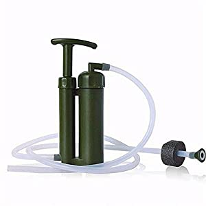 Camping Water Filter, NOVPEAK [U.S.warranty] Portable Soldier Camping Emergency Water Filter Purifier for Outdoor Survival Hiking Travelling