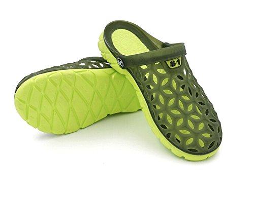 Fansela(TM) Unisex Couples Nest Jelly TPU Sandals Shoes mDark Blue Size 10 by Fansela (Image #3)