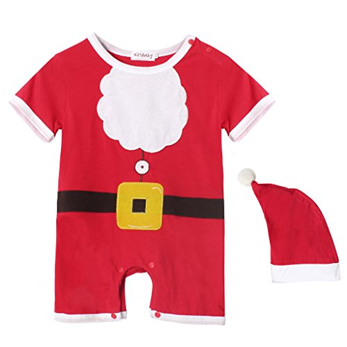[Kiddom Babys Christmas Costumes Santa Clause Snowman Onesie Romper with Hat B] (Snowman Costume Easy)