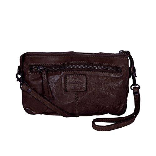 sac bandoulière à Marron tressé cuir lavée CL32663 Design Bear en 5qtpFx