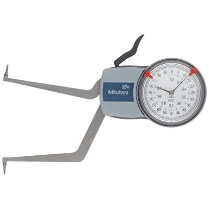 Image of Home Improvements Mitutoyo 209-351 Caliper Gauge, Pointed Jaw, White Face, 0.20-0.60' Range, +/-0.0008' Accuracy, 0.0002' Resolution, Meets IP65 Specifications