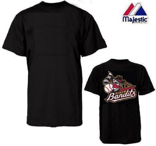 - Majestic Athletic Quad City River Bandits 100% Cotton Crewneck Official Minor League Baseball Replica Jersey Adult XL