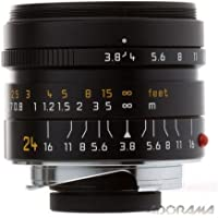 Leica 24mm f/3.8 Elmar-M Aspherical, Manual Focus (6-Bit Coded) Lens for M System - Black - U.S.A. Warranty