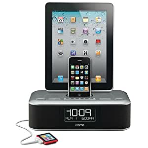 ihome adapter for iphone 6 ihome charge dual alarm stereo fm clock 17320