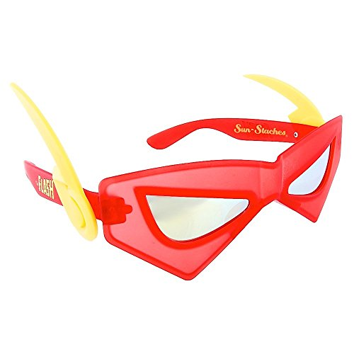 Sunstaches DC Comics Flash Sunglasses, Party Favors, UV400 -