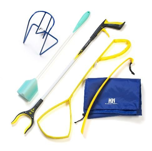 ADL Hip Kit for Home Patients Reacher-Shoe Horn-Sock Aid-Sponge by ADL Essentials